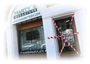 E-Zigaretten-Shops-geschlossen